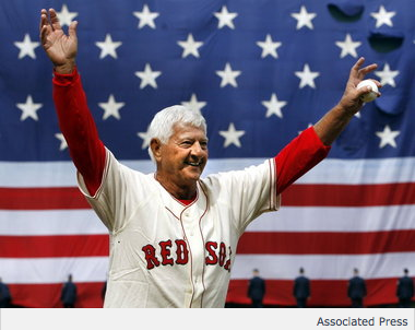 The Red Sox are undefeated when Carl Yastrzemski throws the first pitch